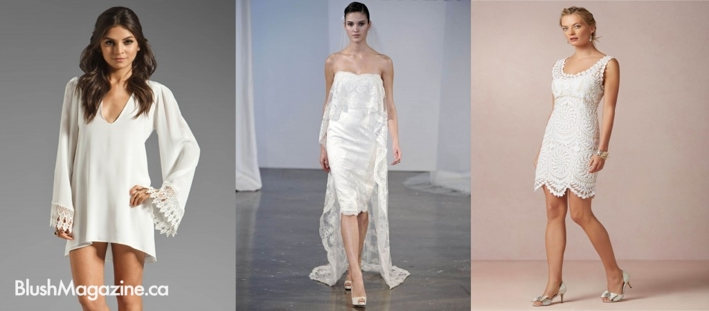Elopement or City Hall Wedding: Short White Dresses
