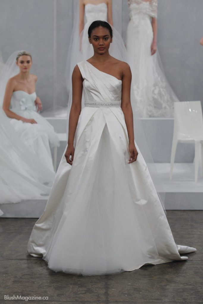 Monique lhuillier spring 2015 bridal collection for Monique lhuillier pink wedding dress