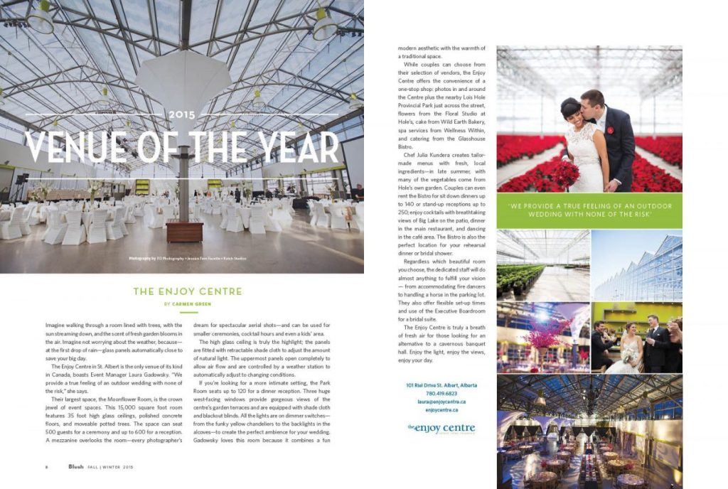 Blush's Venue of the Year 2015: The Enjoy Centre