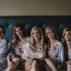 Kailey + David: Summer Jasper Wedding - Bridesmaids in matching robes