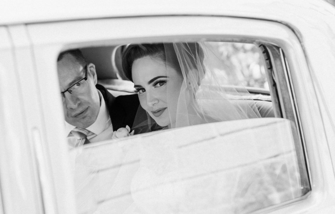 Lindsey + Anthony: Traditional British Wedding - Bentley Pic