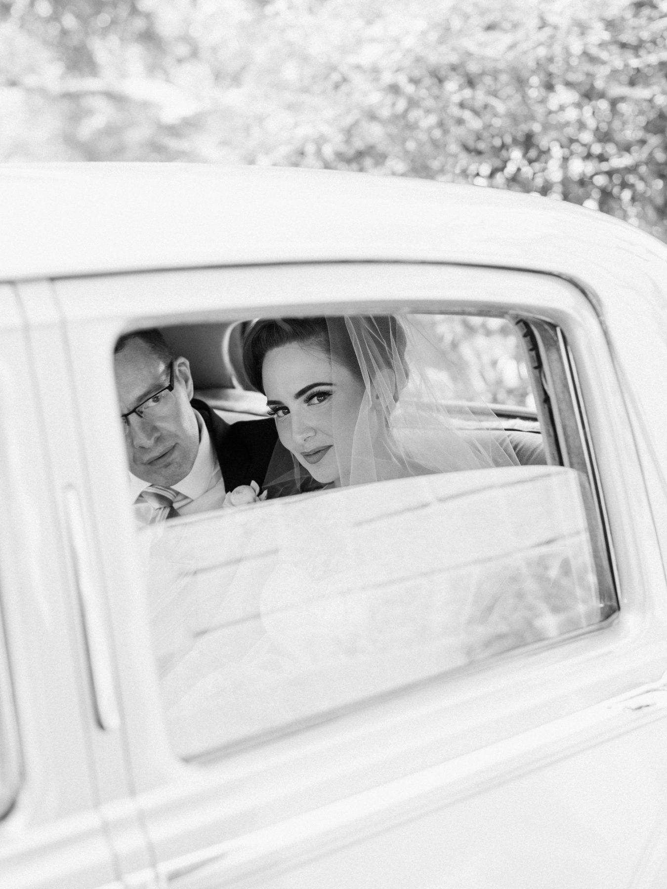Lindsey + Anthony: Traditional British Wedding - Bentley Pic