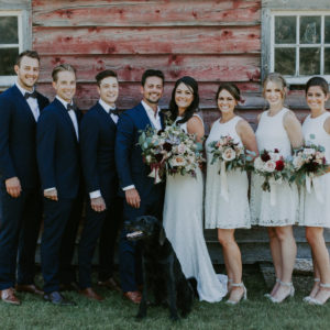 Rustic Alberta Barn Wedding - Bridal Party