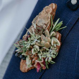 Kristine + Reese: Rustic Alberta Barn Wedding - Boutonniere