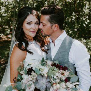 Kristine + Reese: Rustic Alberta Barn Wedding