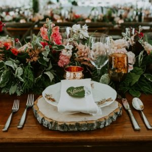 Kristine + Reese: Rustic Alberta Barn Wedding - Table Setting