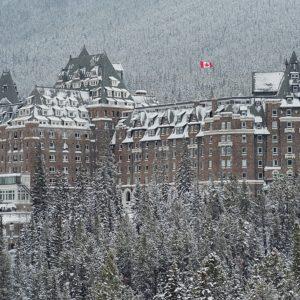 Fairmont Banff Springs Hotel Winter