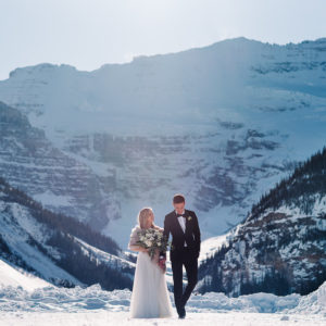 Sara + Tommy: Winter Lake Louise Wedding