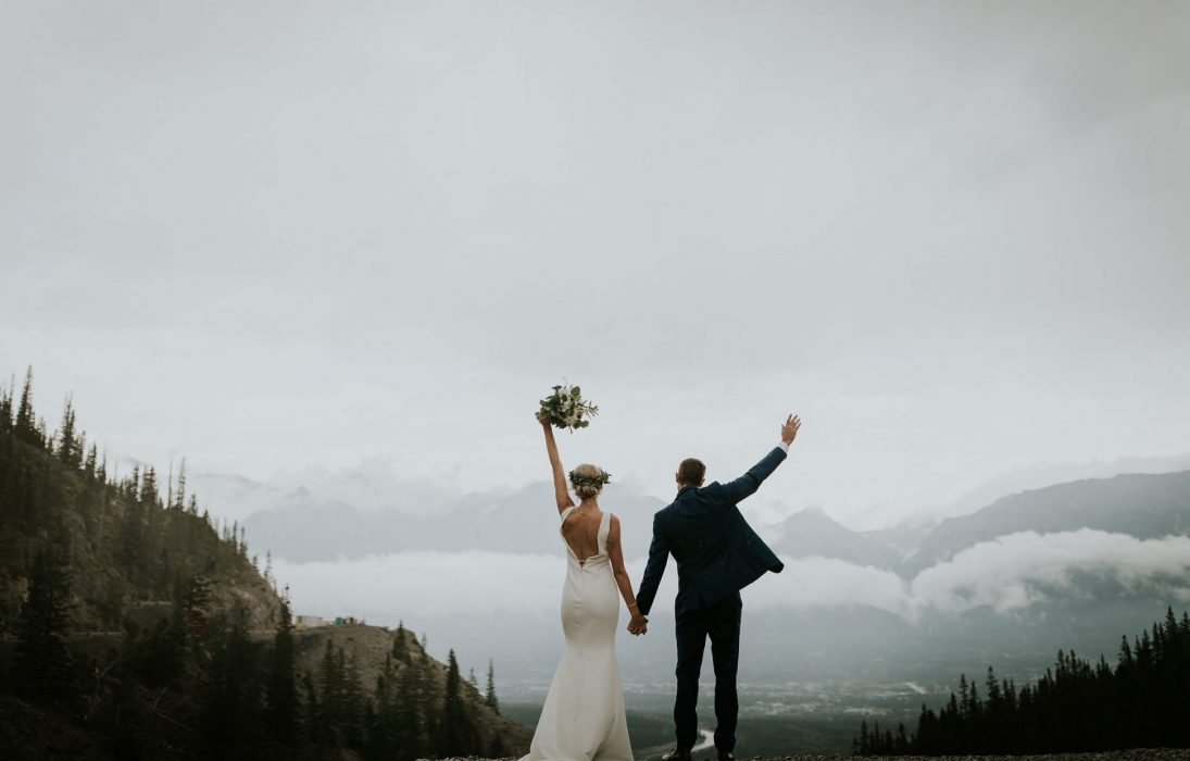 Bride and Groom Mountain Wedding